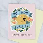 Dog Mom for Life Sticker Birthday Card