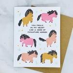 Miniature Horses Card