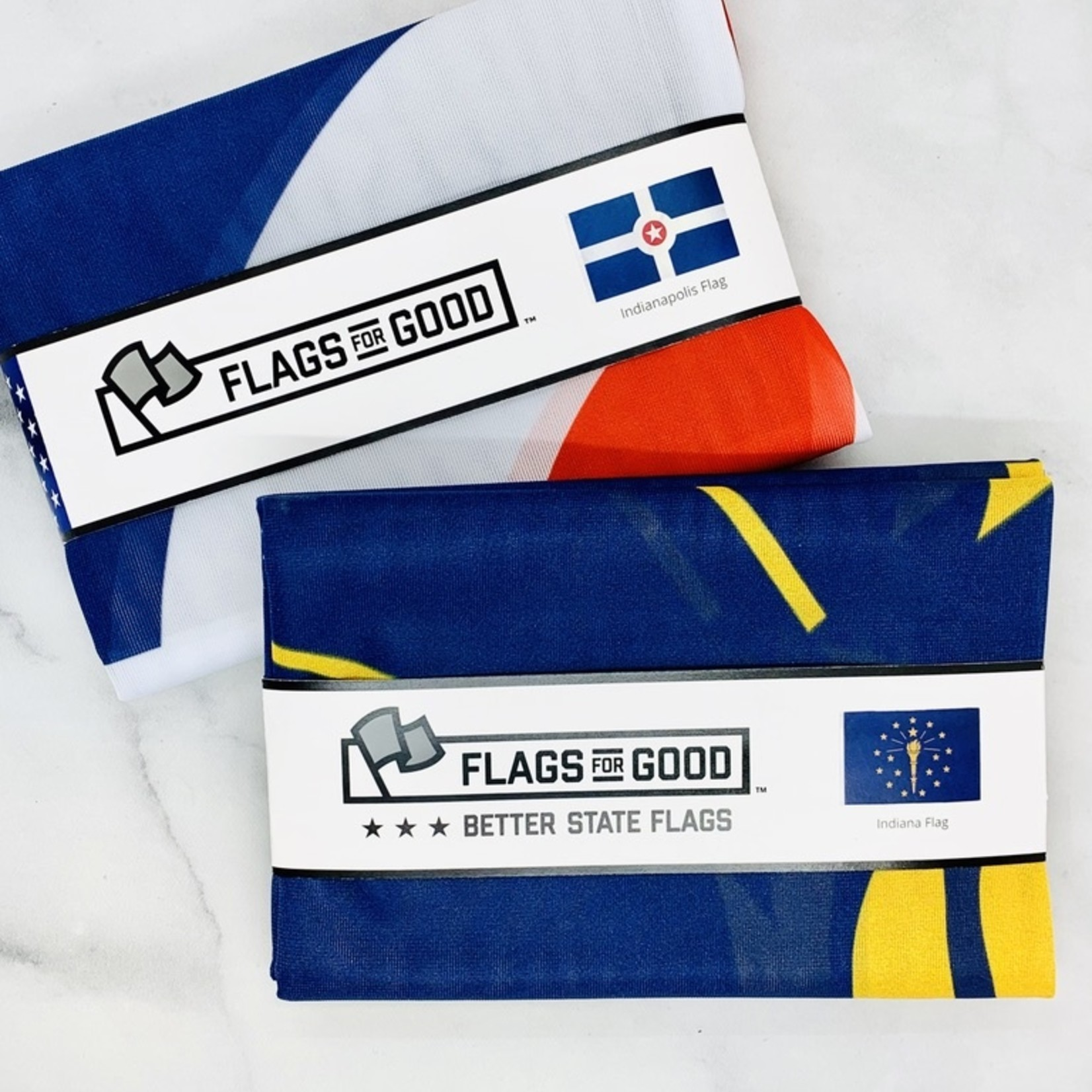 Flags for Good Indiana and Indianapolis 3'x5' Flag: