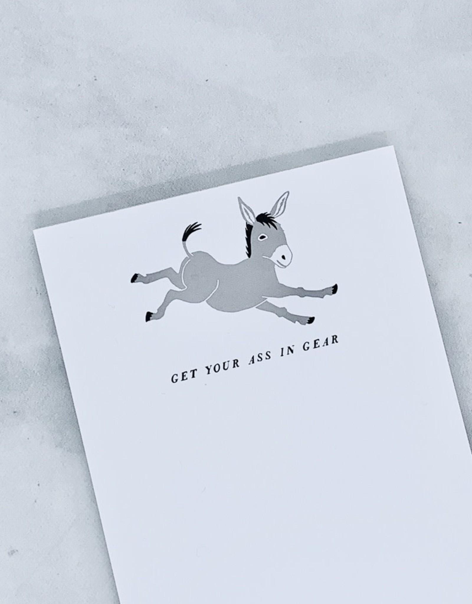Ass in Gear Notepad