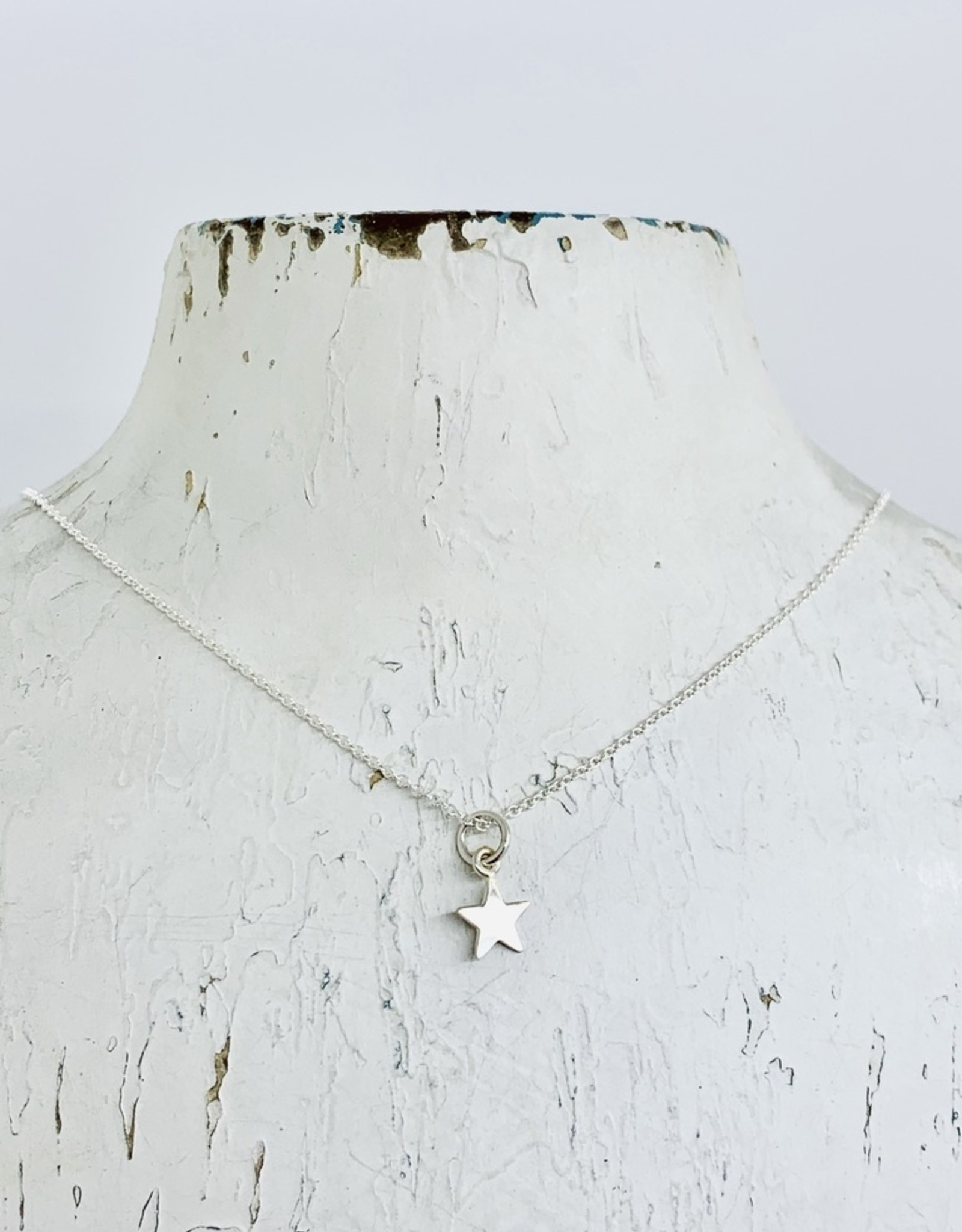 Becoming Jewelry Tiny Star Friendship Necklace, Silver