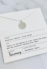 Becoming Jewelry Small Round Stars Necklace, Silver
