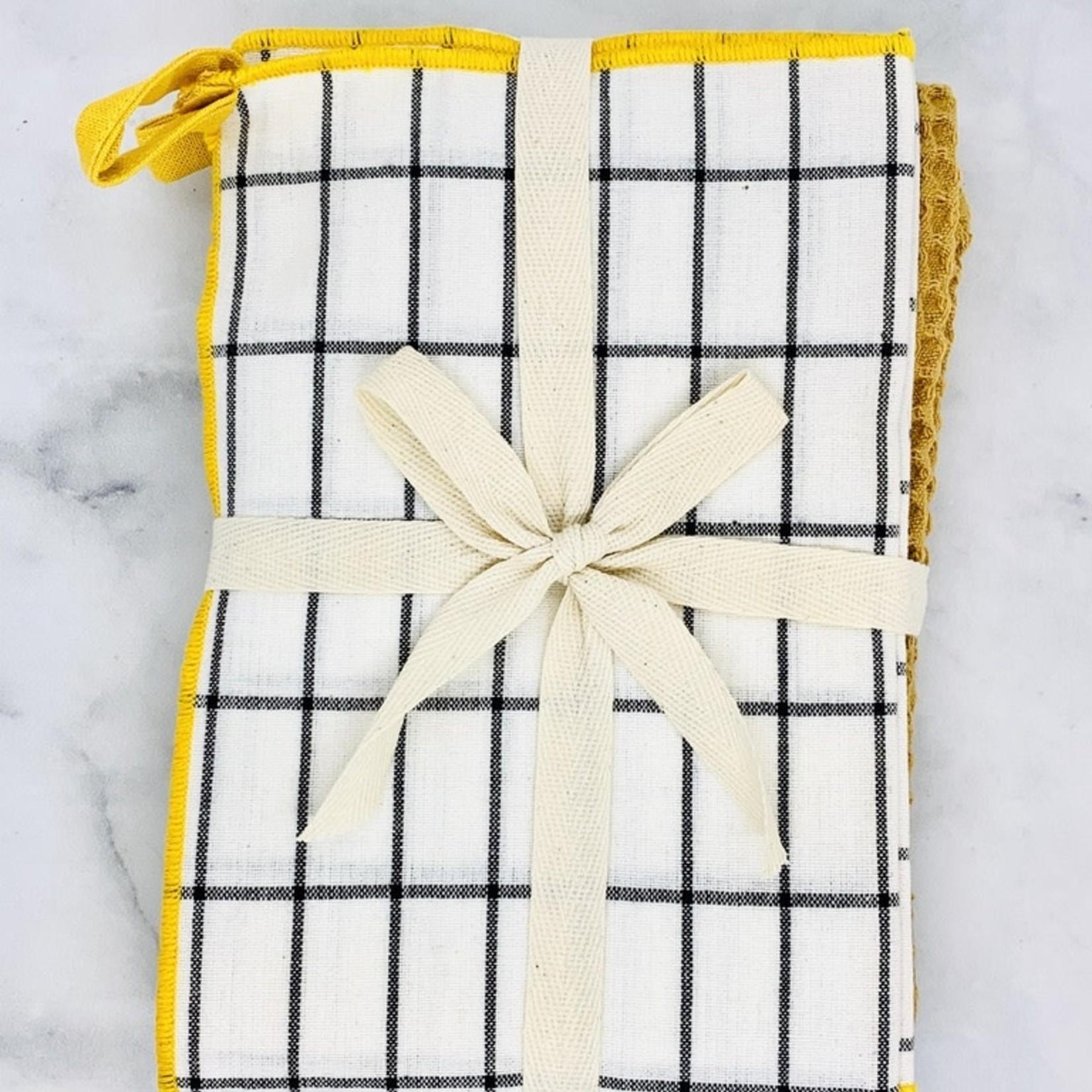 """28""""L x 18""""W Cotton Tea Towels, Multi Color, Set of 3"""