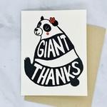 Panda Giant Thanks Card