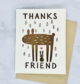 Thanks Friend Rain Bear Card