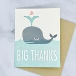 Whale Big Thanks Card