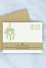 Hello Hanging Plant Flat Notecard Set of 8