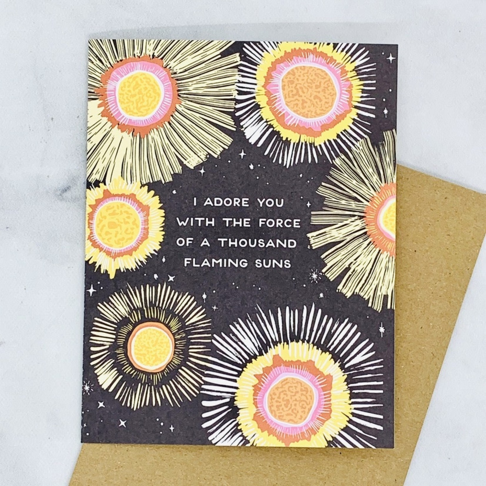 Flaming Suns Card