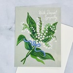 Lily of the Valley Sympathy Card