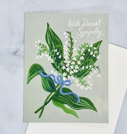 Lilly of the Valley Sympathy Card