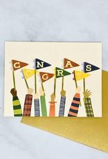 Congrats Pennants Card