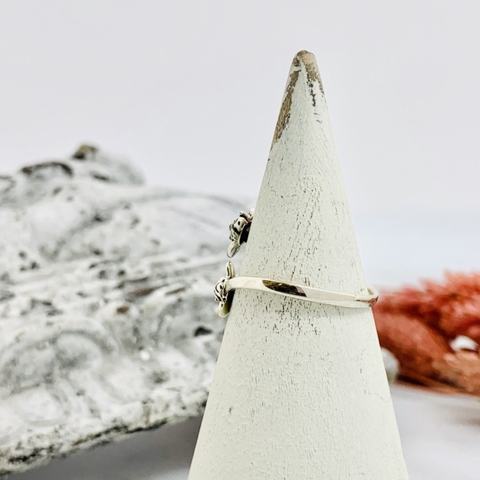Silver Elephant Friends Wrap Ring