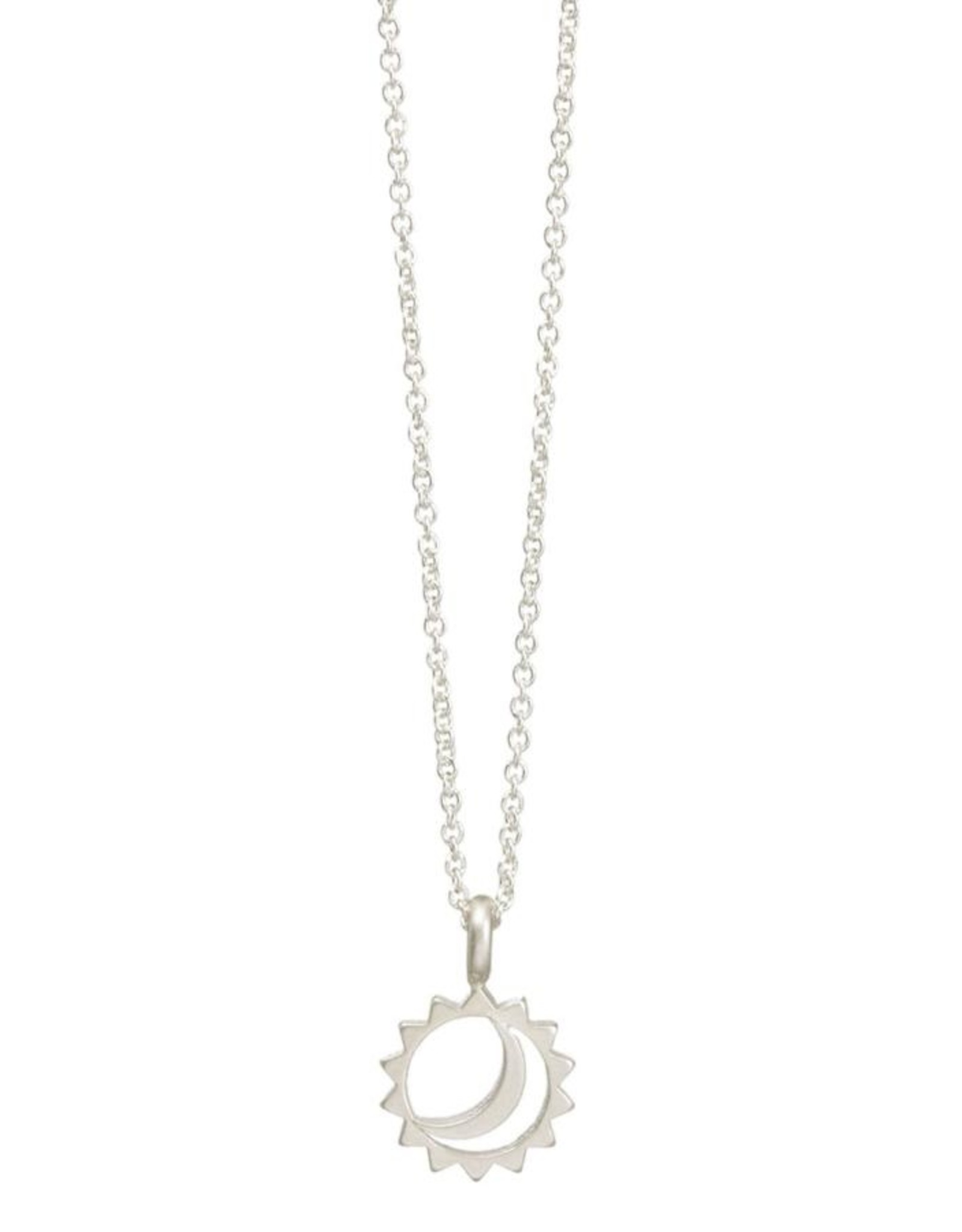 """New Times Sun and Moon Necklace, 16"""" +2"""""""