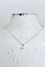 Becoming Jewelry Tiny Heart Charm Necklace, Silver