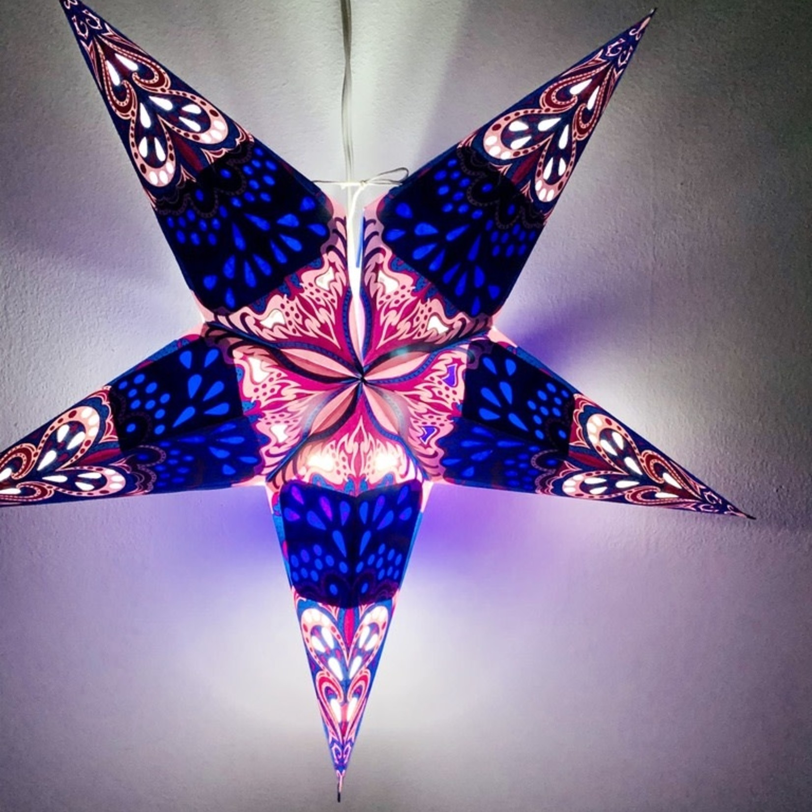 Blue Flower Star Light with 12' Cord