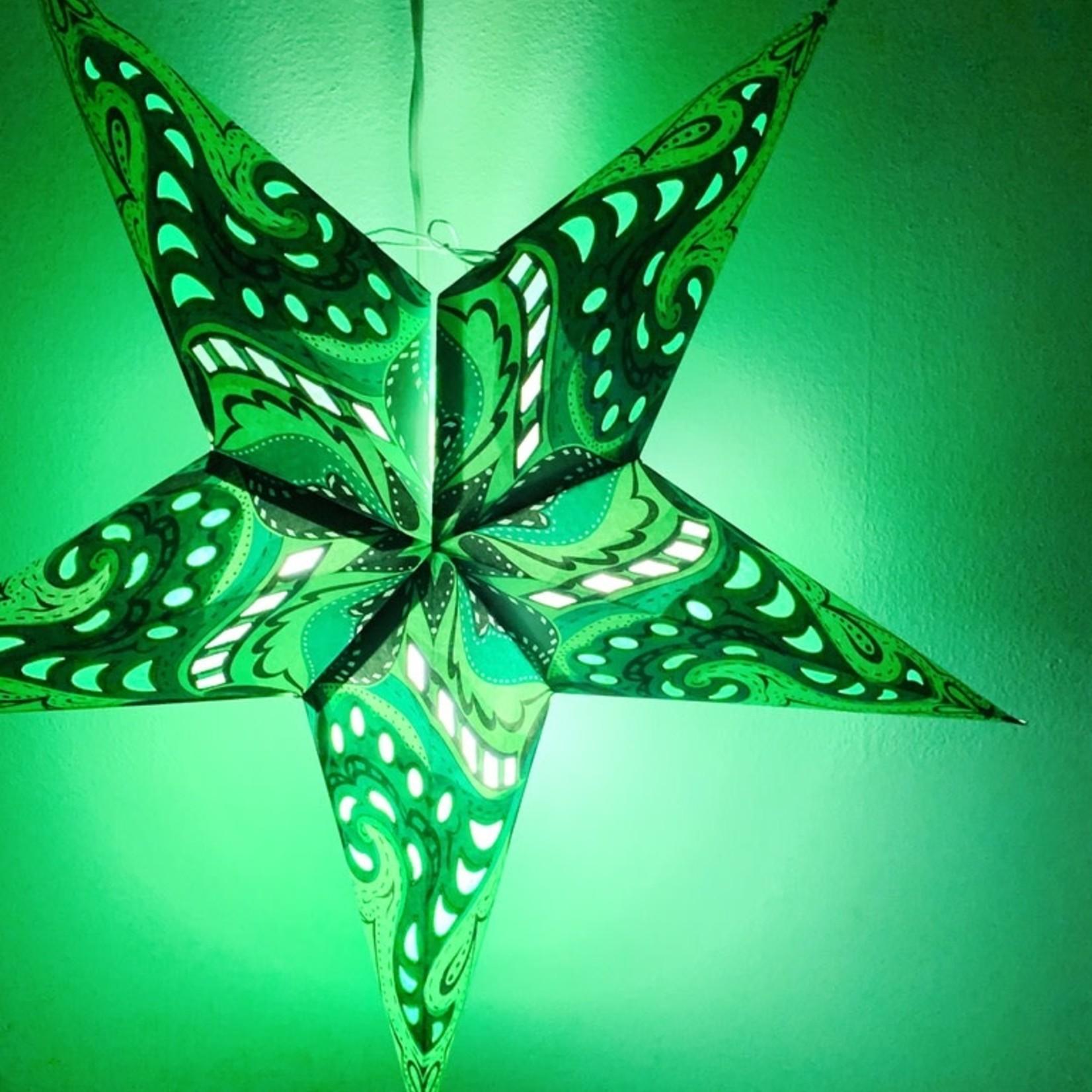 Green Nebula Star Light with 12' Cord