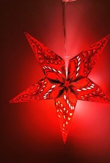 Red Nebula Star Light with 12' Cord