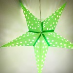 Solid Green Star Light with 12' Cord