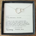 Becoming Jewelry Mother Linked Rings Necklace, Silver