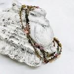 Native Gems ENCHANTMENT rainbow tourmaline 14K wrap-necklace