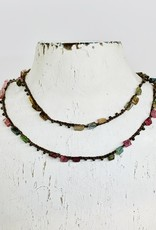 Native Gems ENCHANTMENT rainbow tourmaline 14K wrap-necklace