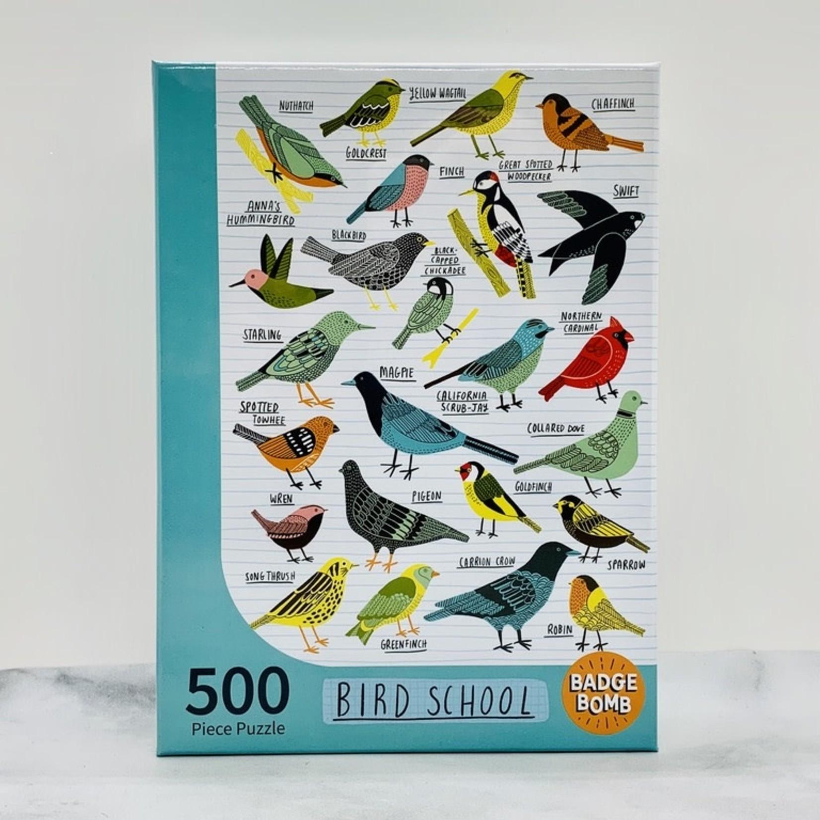 Badge Bomb Bird School 500pc Puzzle