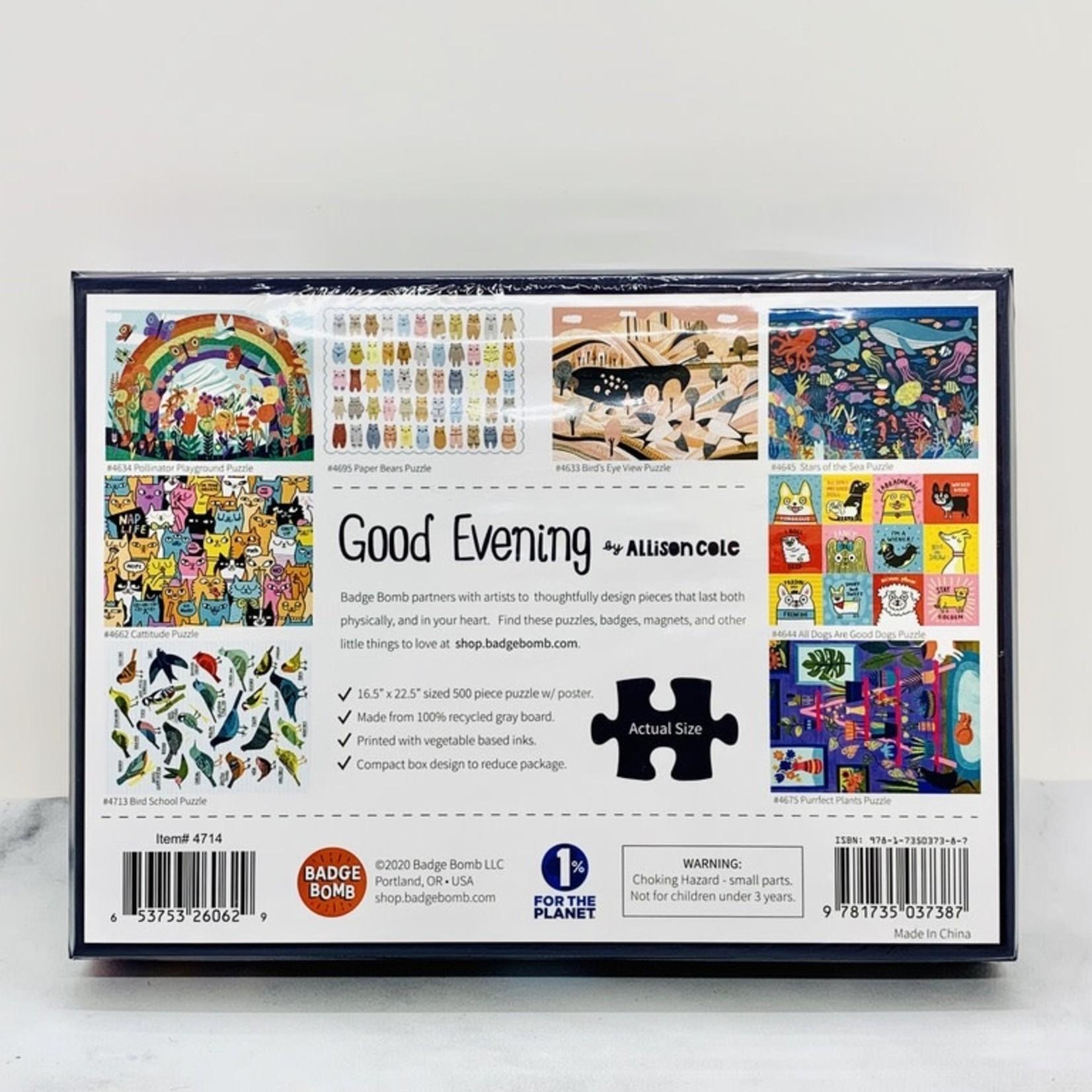 Badge Bomb Good Evening 500pc Puzzle