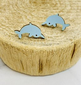 Handmade Narwhal Lasercut Wood Earrings on Sterling Silver Posts