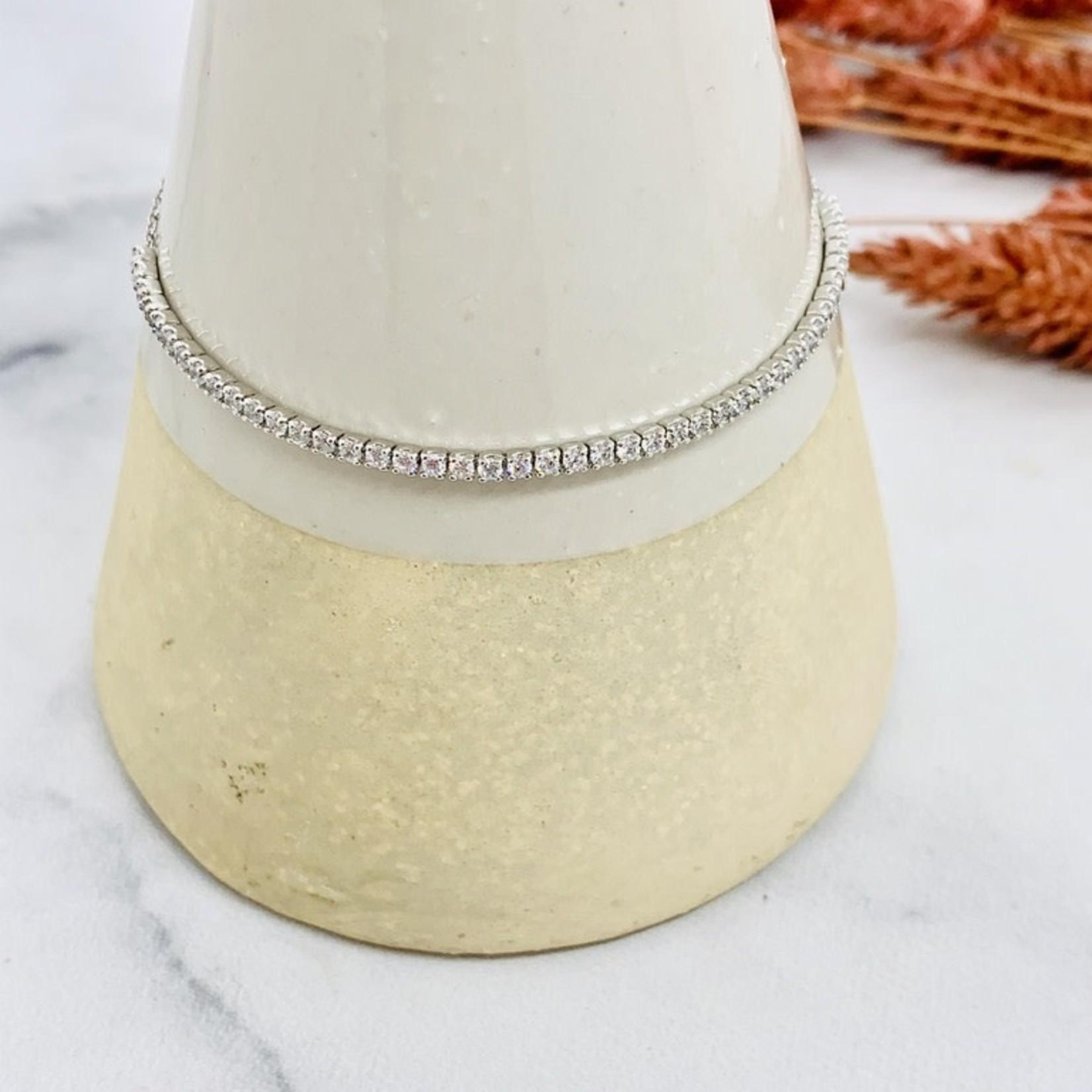 Native Gems SHIMMER bracelet in sterling silver with CZ, adjustable