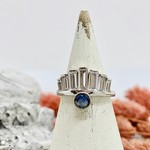 Native Gems KATE blue moonstone and CZ sterling silver ring