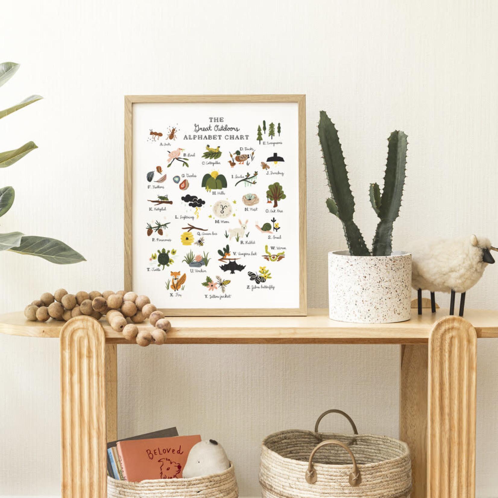 "Little Low Studio Great Outdoors Alphabet 11""x14"" Print"