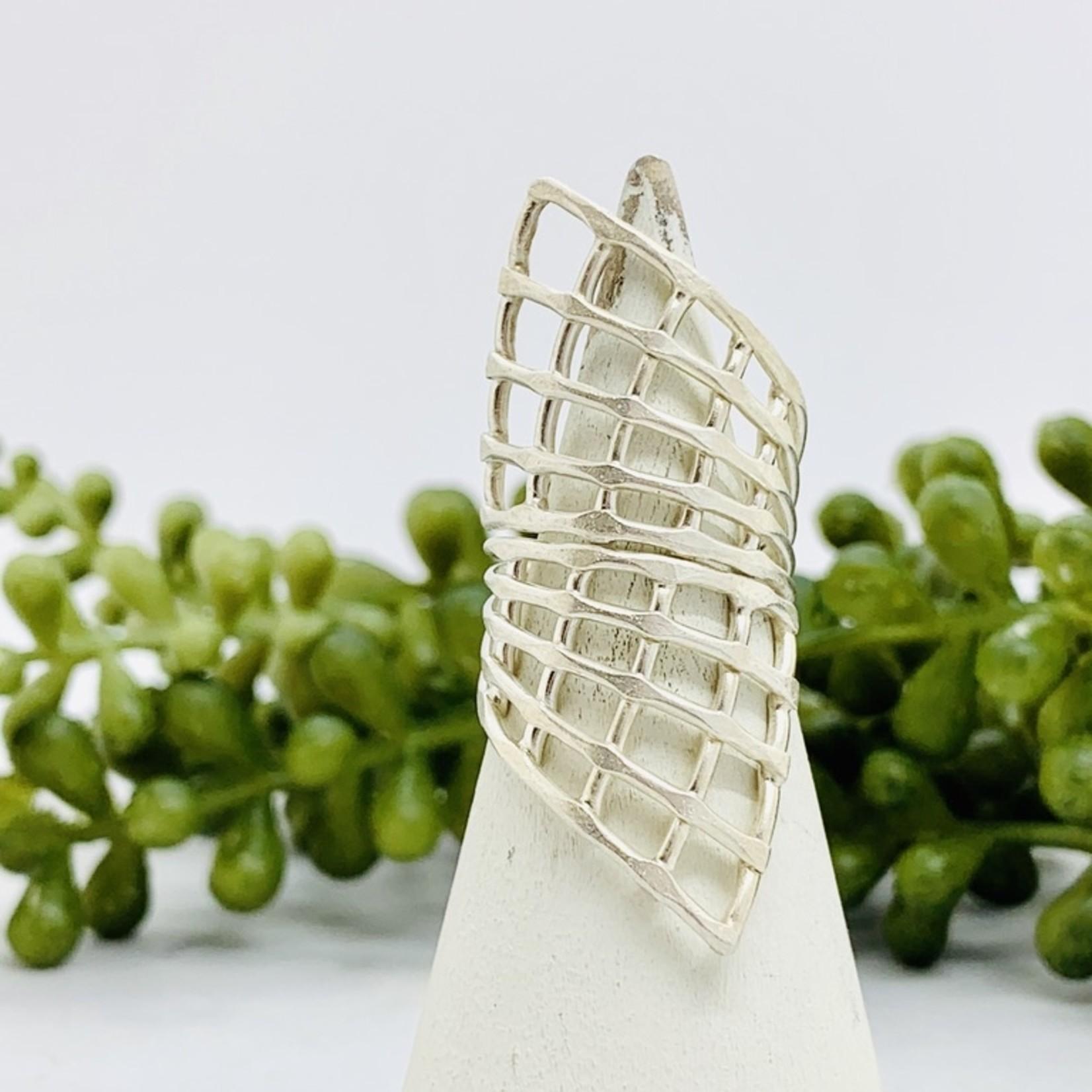Anantara Silver Cage Wrap Ring