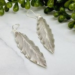 Anantara Silver Long Leaf Earrings