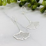 Anantara Silver Gingko Leaf Earrings
