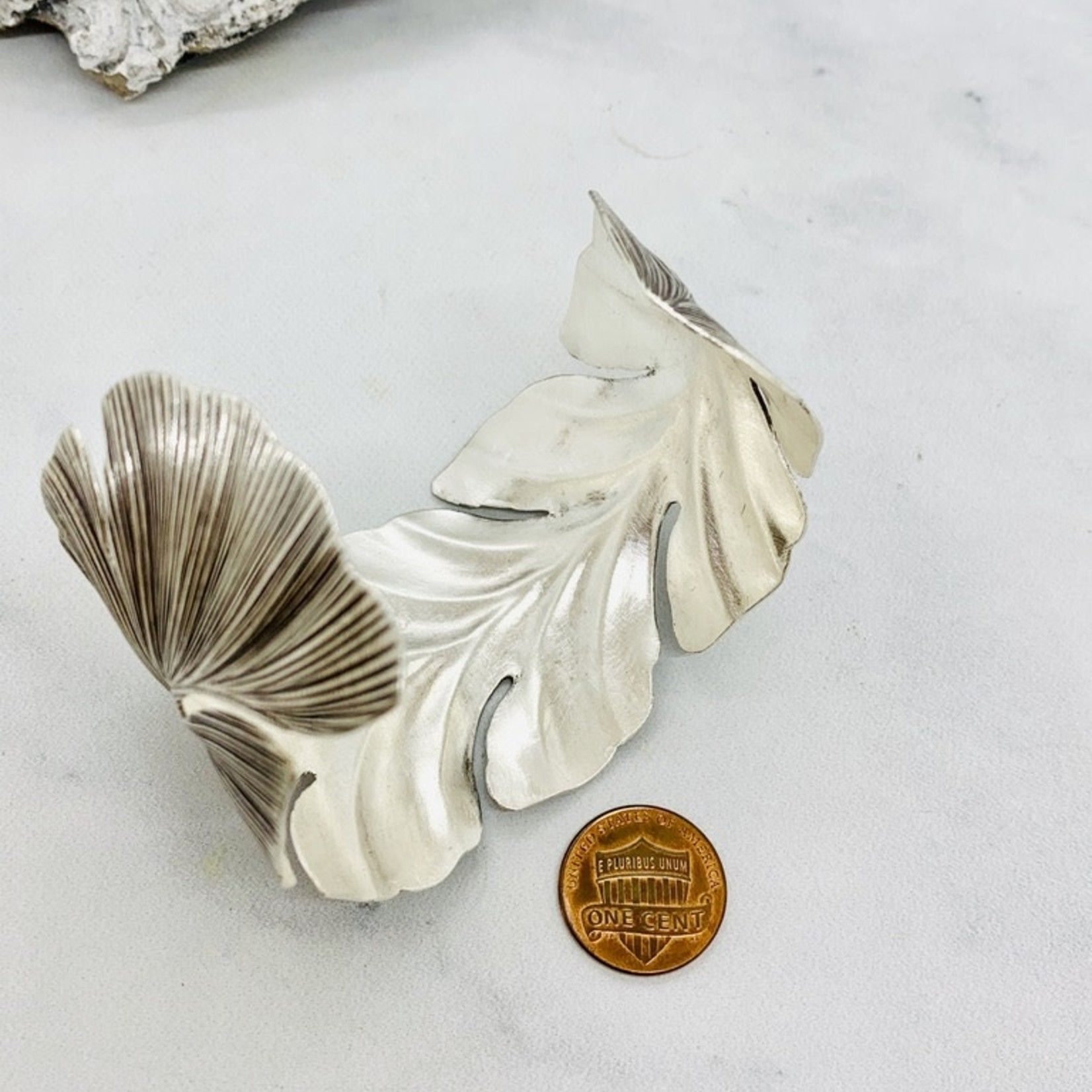Anantara Silver Giant Leaf Cuff Bracelet