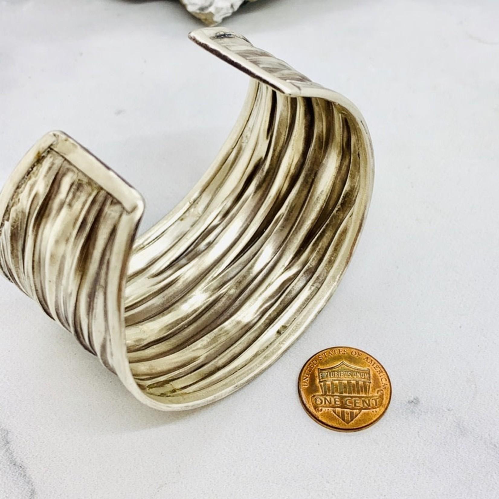 Anantara Silver Crinkle Cuff Bracelet