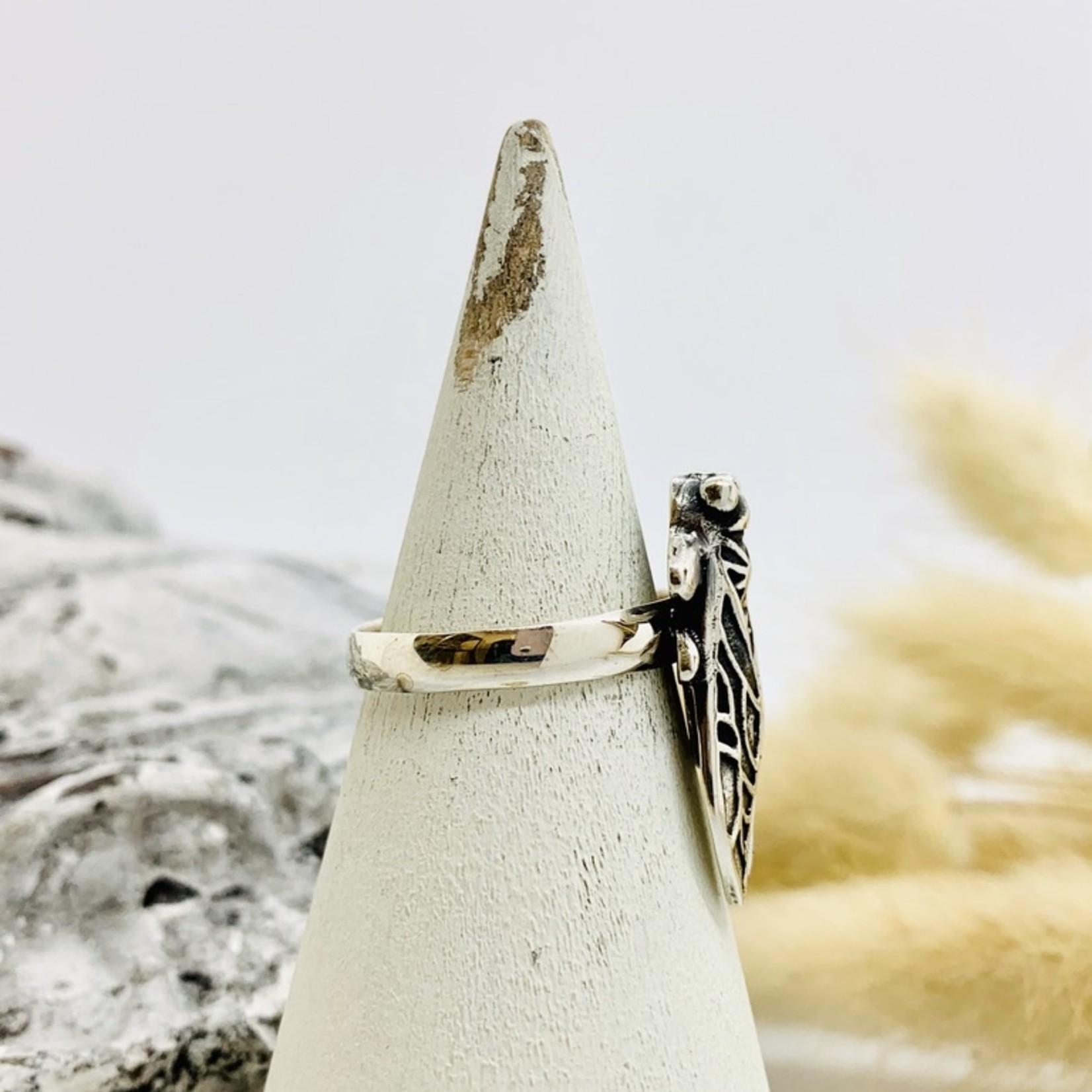 Sterling Silver Cicada Ring