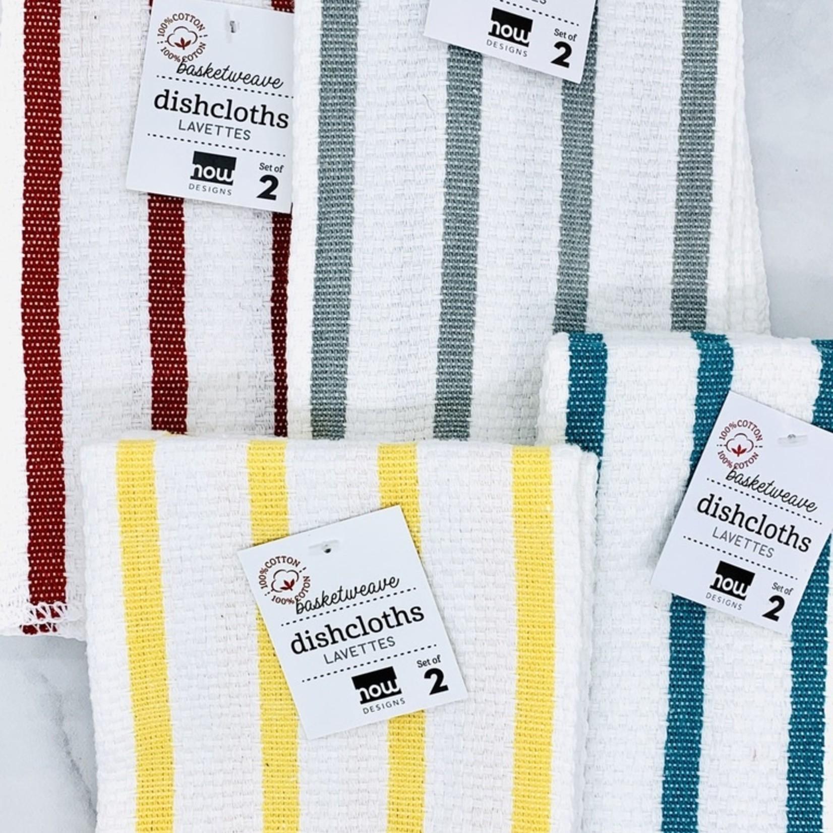 Basketweave Dishcloths Set of 2: