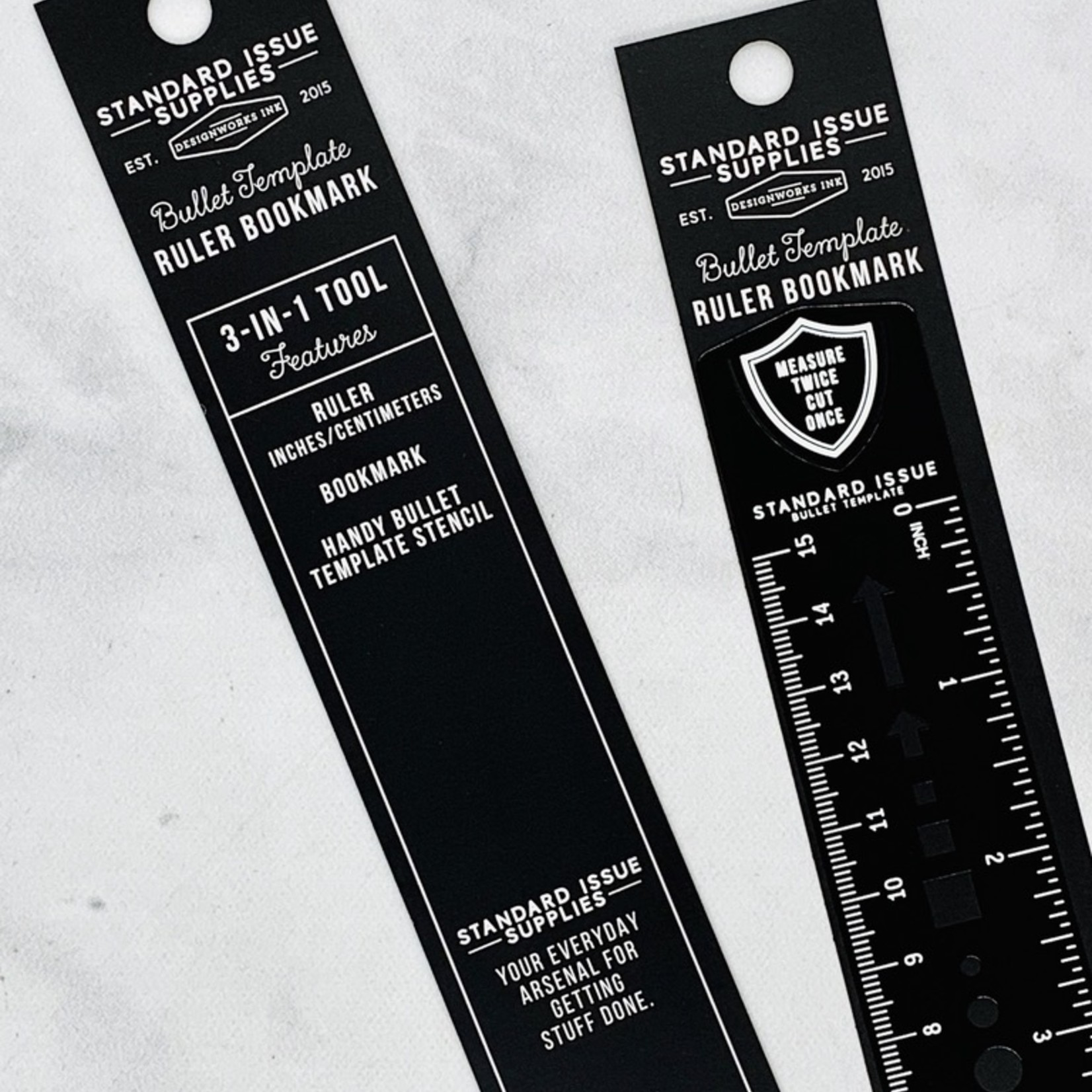 Design Works Standard Issue 6 Inch Metal Ruler: