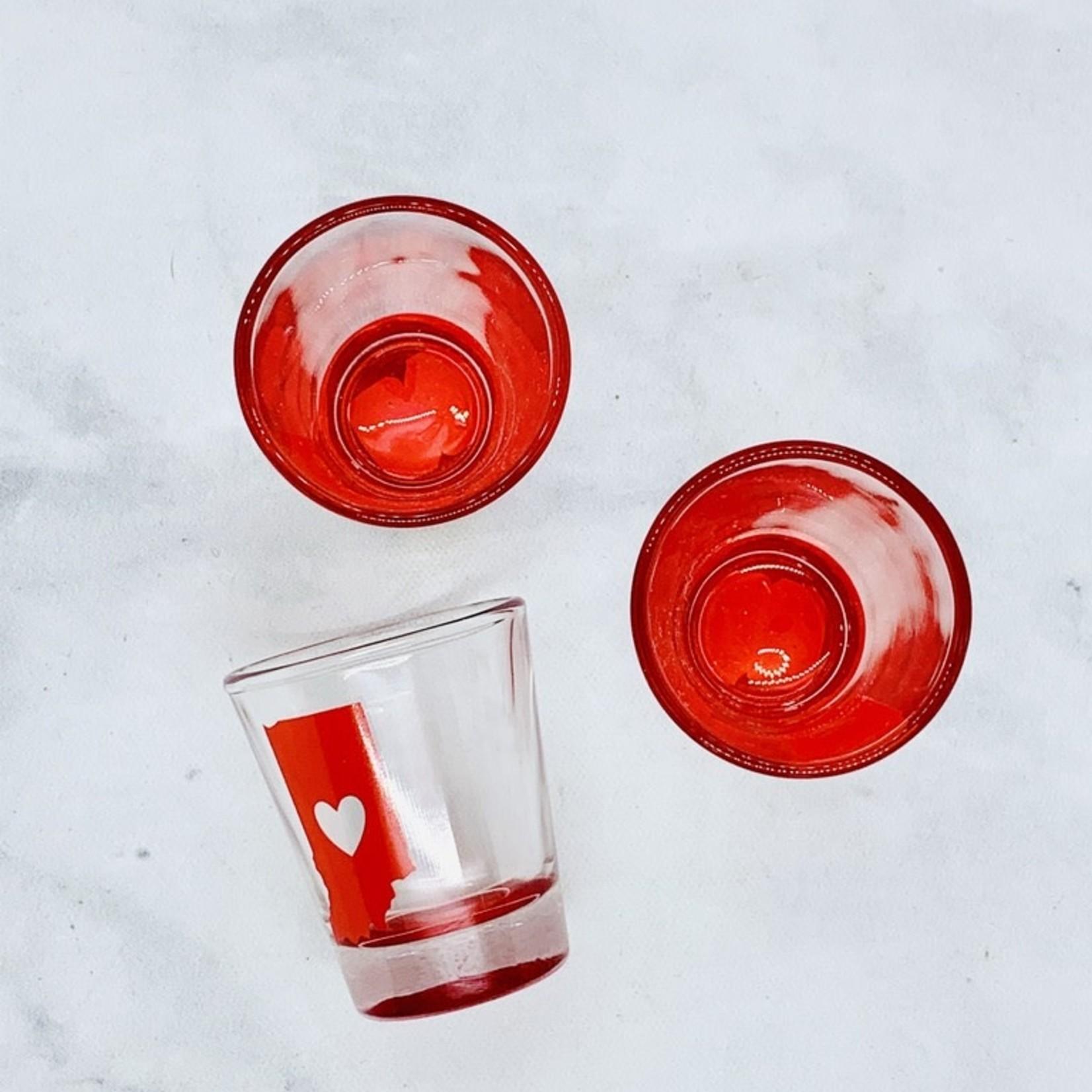 Indiana Heart Shot Glass