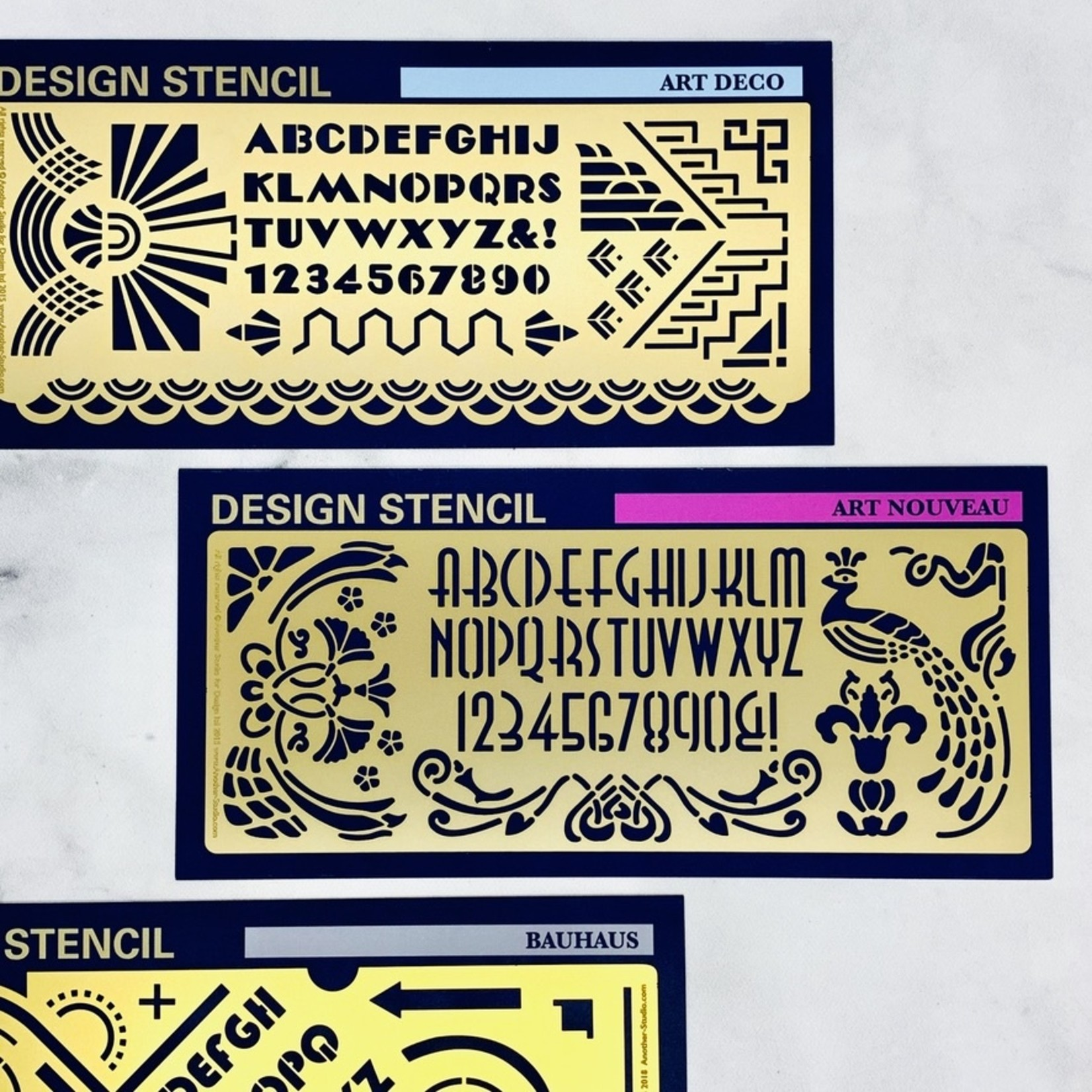 Another Studio for Design Design & Craft Drawing Stencil: