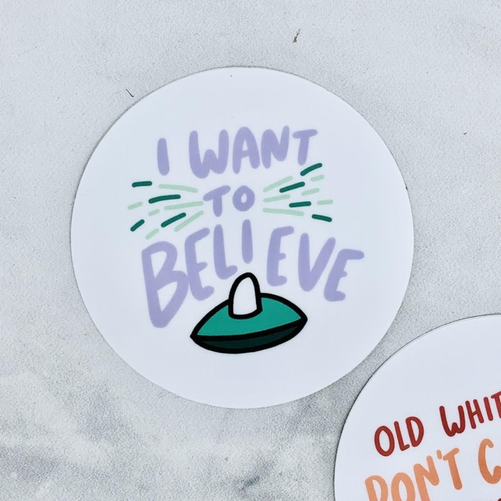 Craft Boner I Want To Believe Sticker
