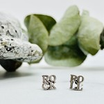Sterling Silver ROCK & ROLL stud earrings