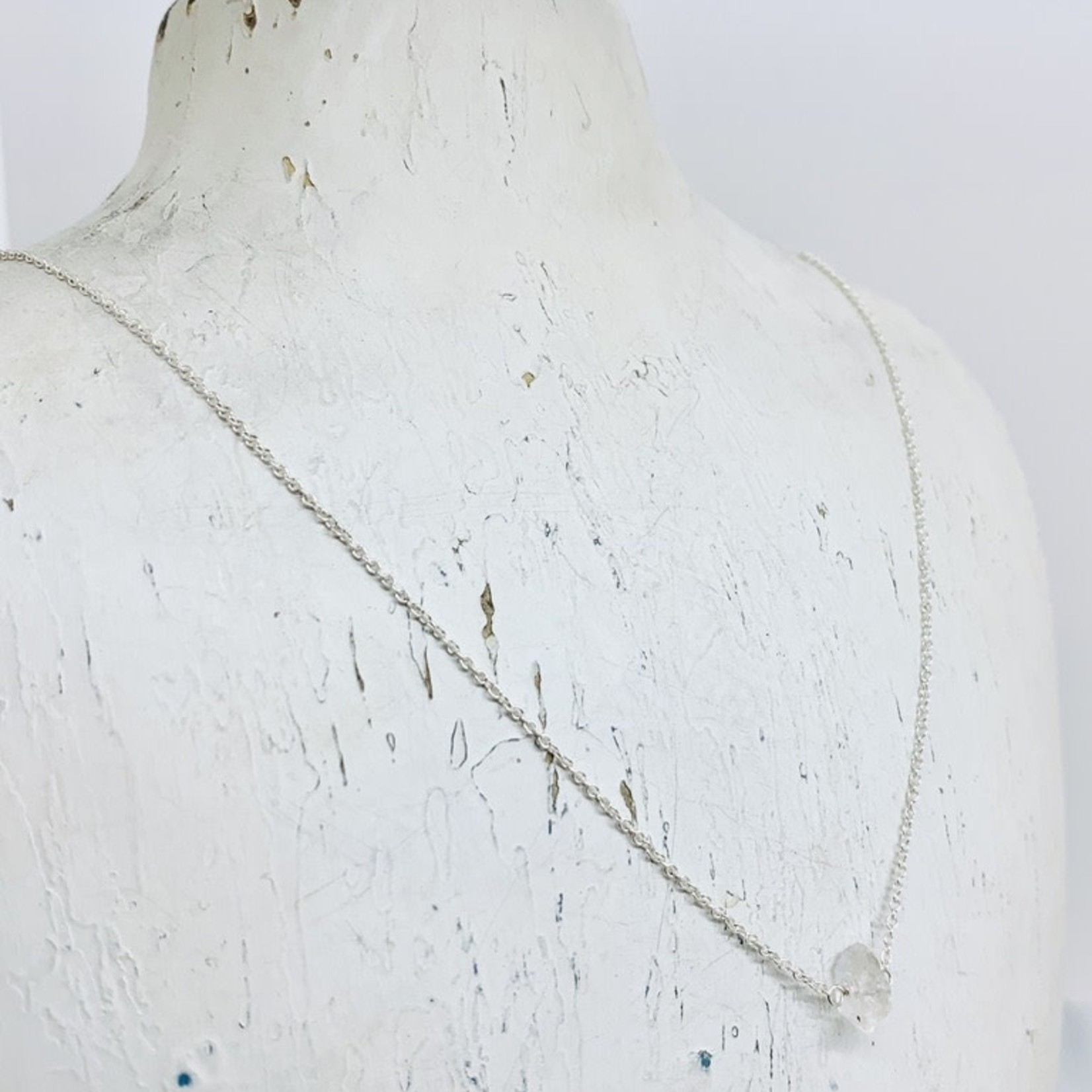 Silver Remy Necklace with Herkimer Diamond