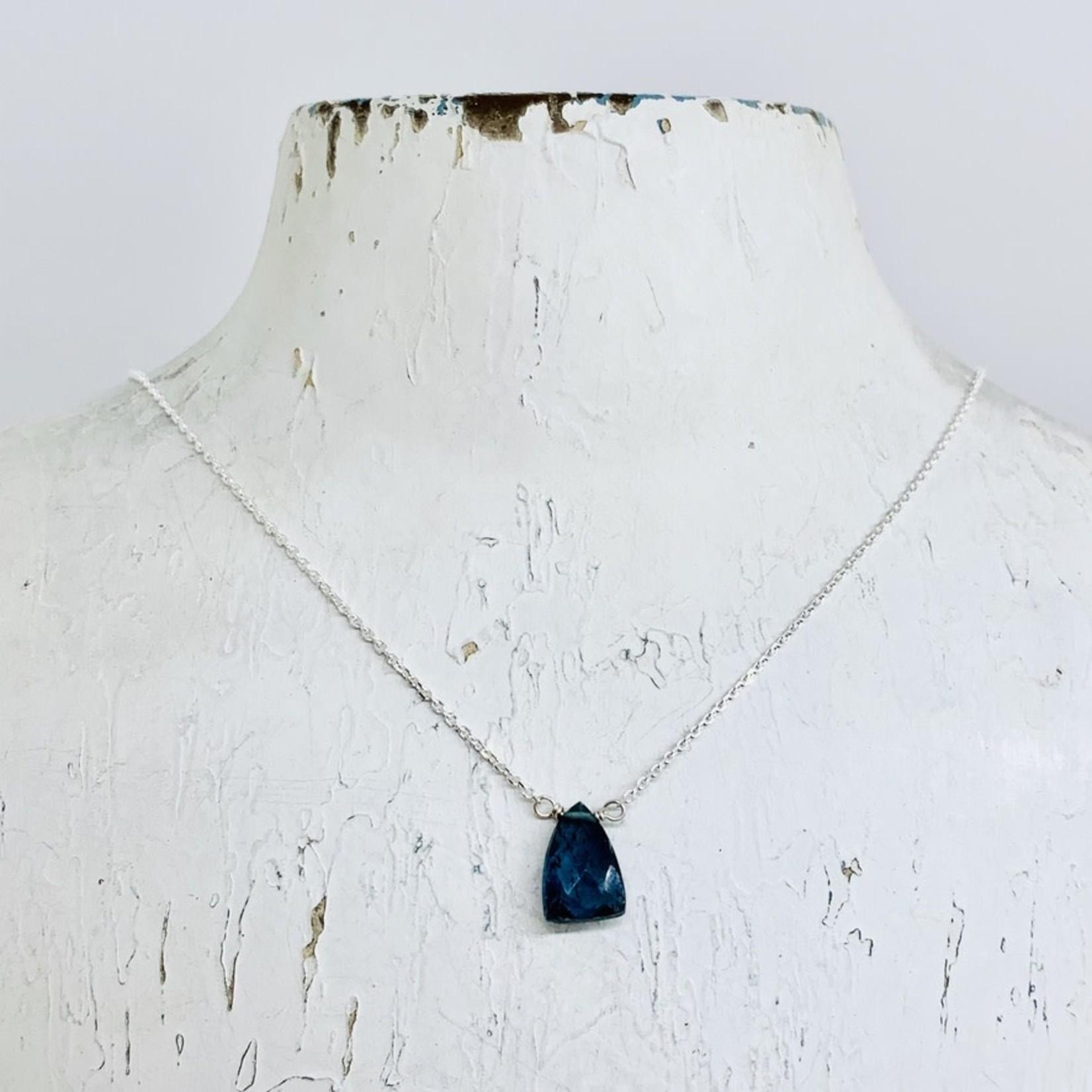 Silver Mila Necklace, Kyanite