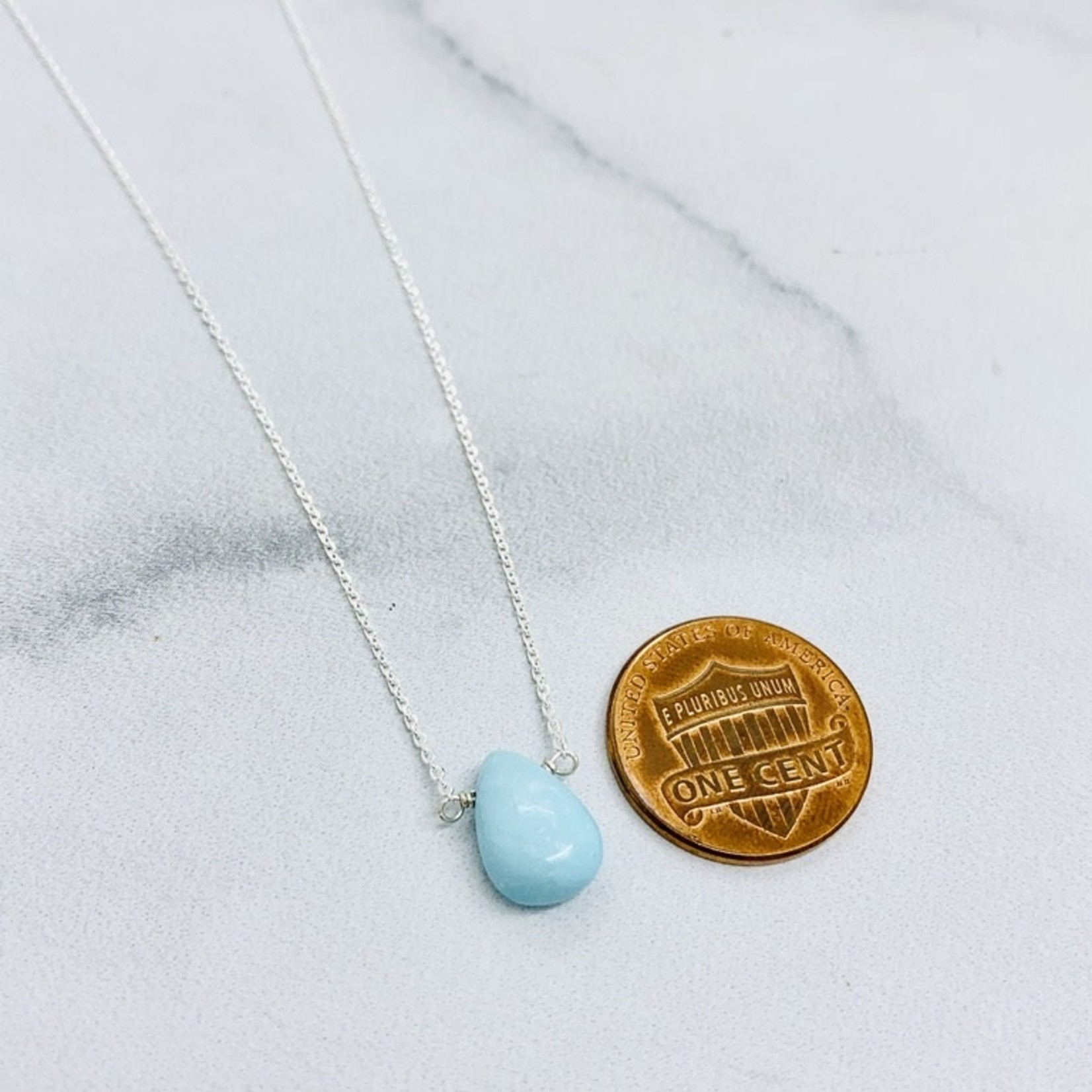 Silver Mila Necklace, Turquoise