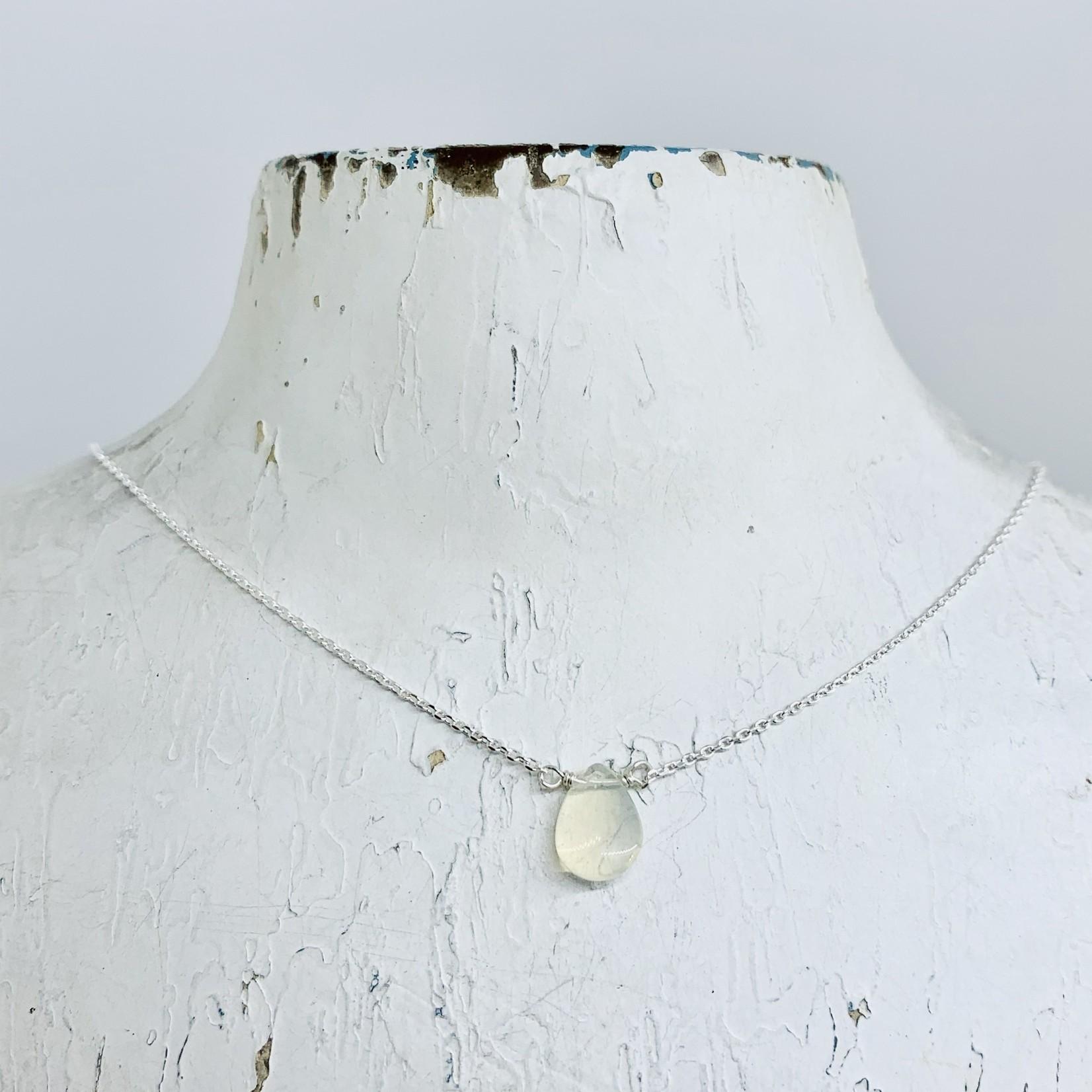Silver Mila Necklace, Opal