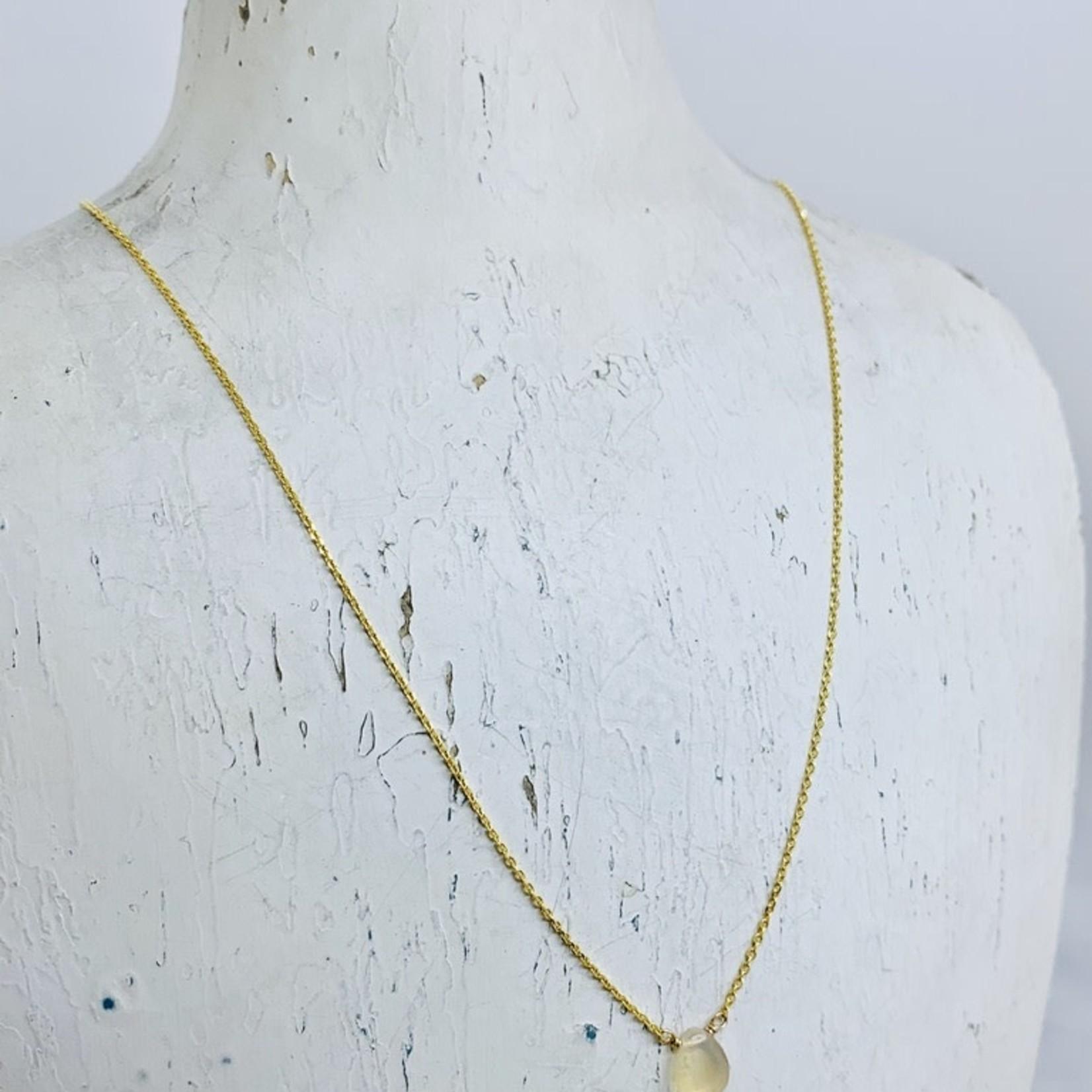 Goldfilled  Mila Necklace, Opal