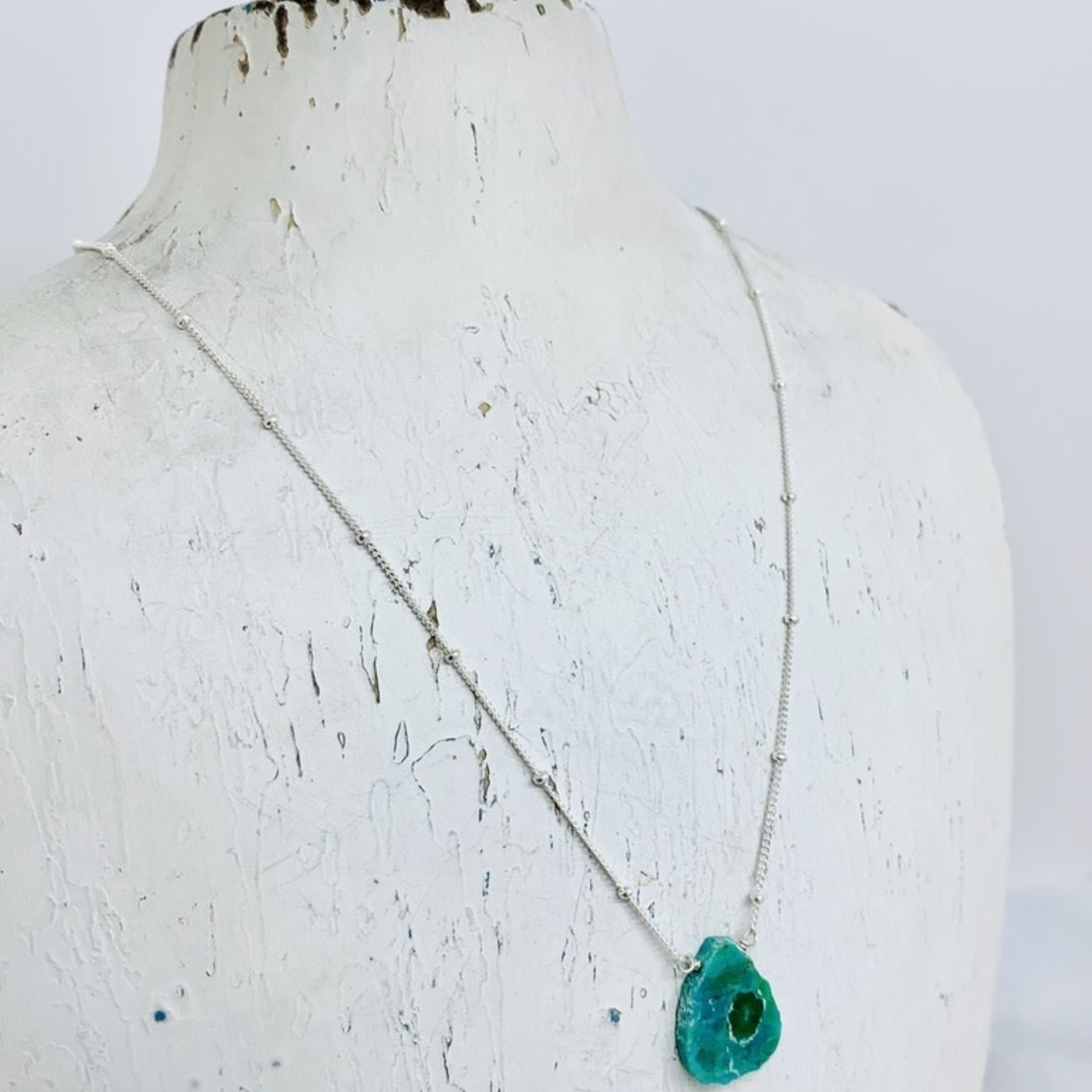 Fiji Necklace, Turquoise, Sterling Silver