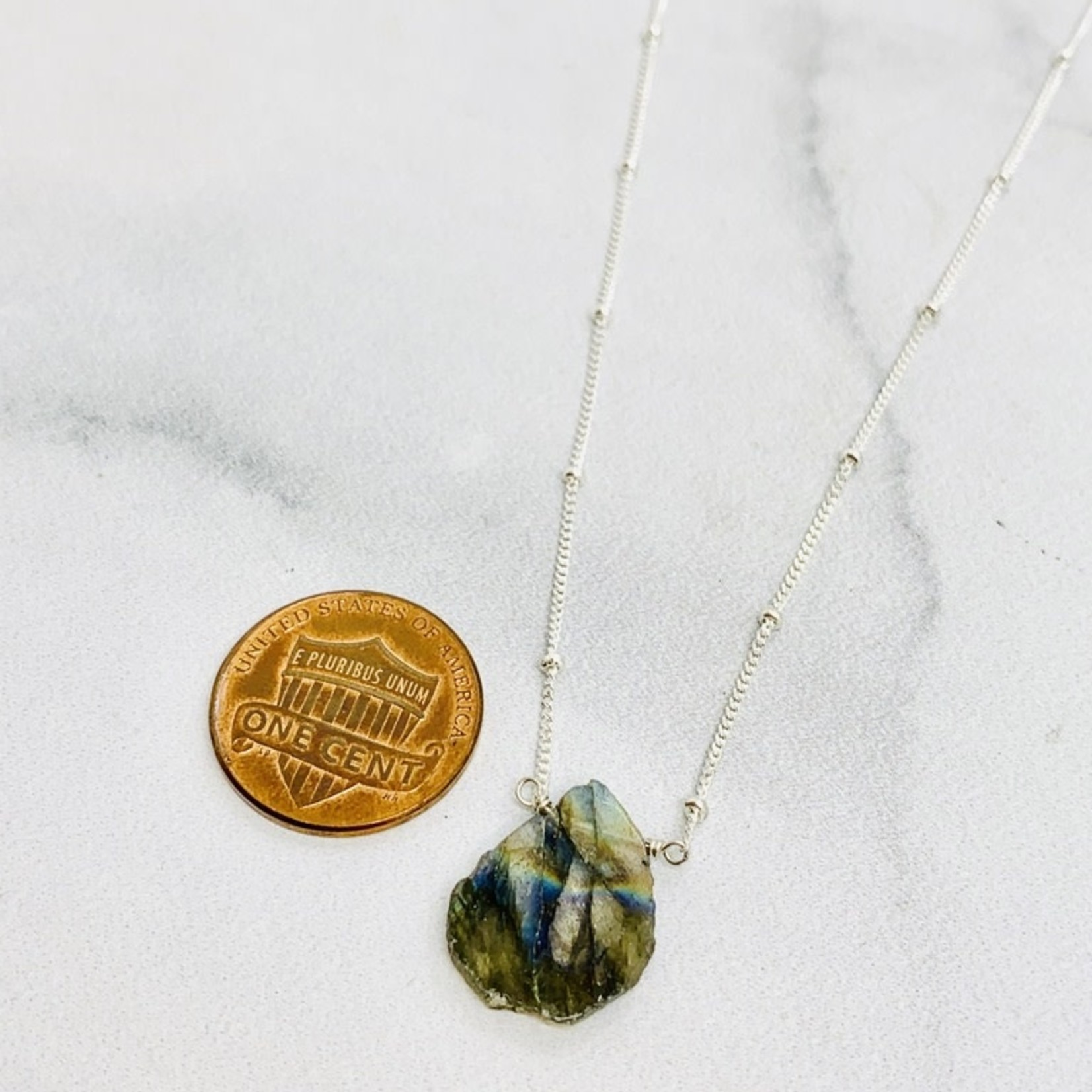 Fiji Necklace, Labradorite, Sterling Silver